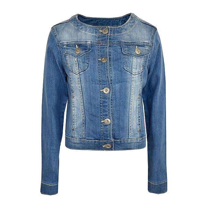 b0f11c88c9b7 Amazon.com  Kids Girls Jacket Denim Style Stylish Fashion Trendy ...