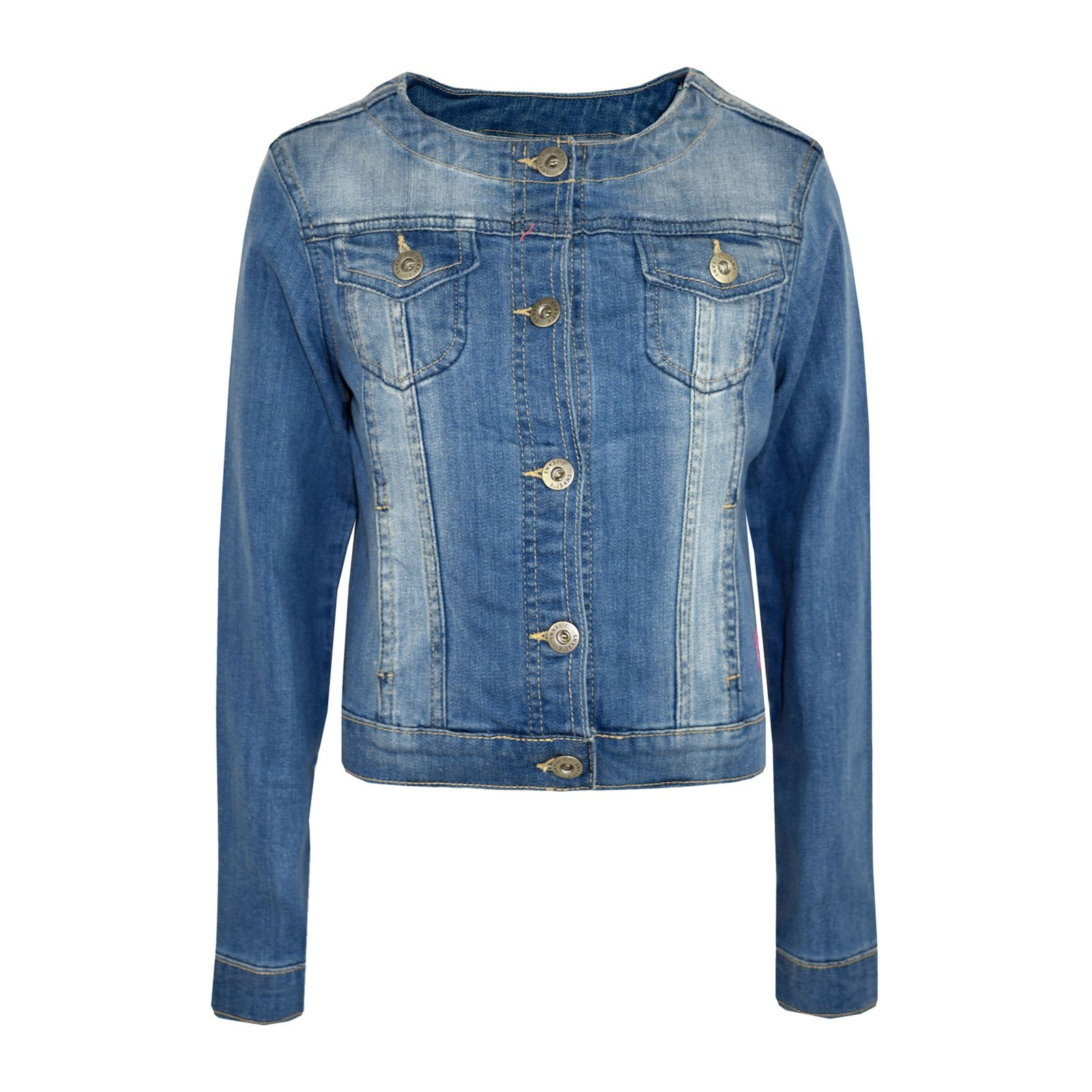 Kids Girls Jacket Kids Denim Style Stylish Fashion Trendy Jacket Age 3-16 Years by a2z4kids