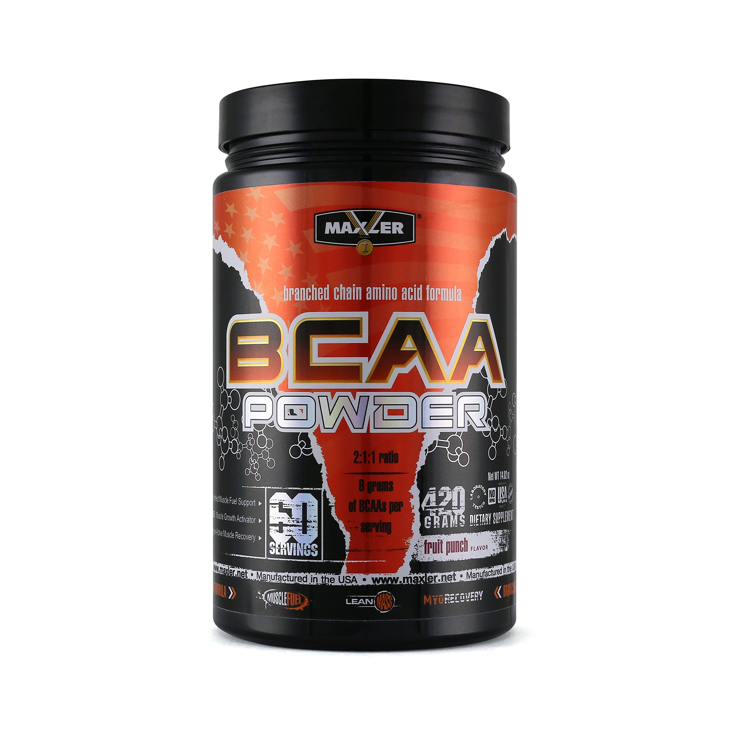 MAXLER BCAA Powder, Fruit Punch, 60 Servings