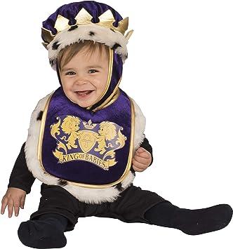 Rubies 510515 - Disfraz babero con sombrero de rey para bebé, 6-12 ...
