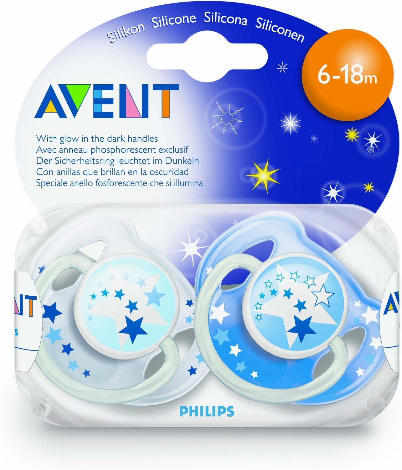 Philips Avent SCF176//18 Set de 2 Sucettes Nuit 0-6 Mois Mod/èle Neutre ou Mod/èle Gar/çon