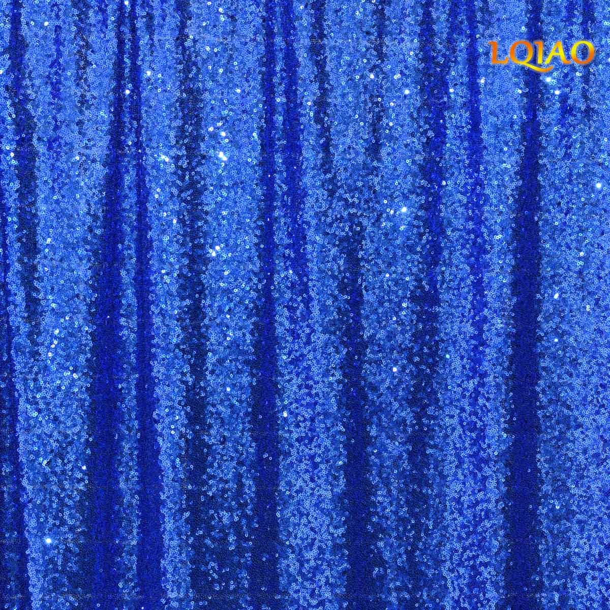 LQIAO 20FTx10FT Royal Blue Shimmer Sequin Fabric Backdrp Wedding Photo Booth Photography Backdrops Background DIY Party Banquet Decoration by LQIAO