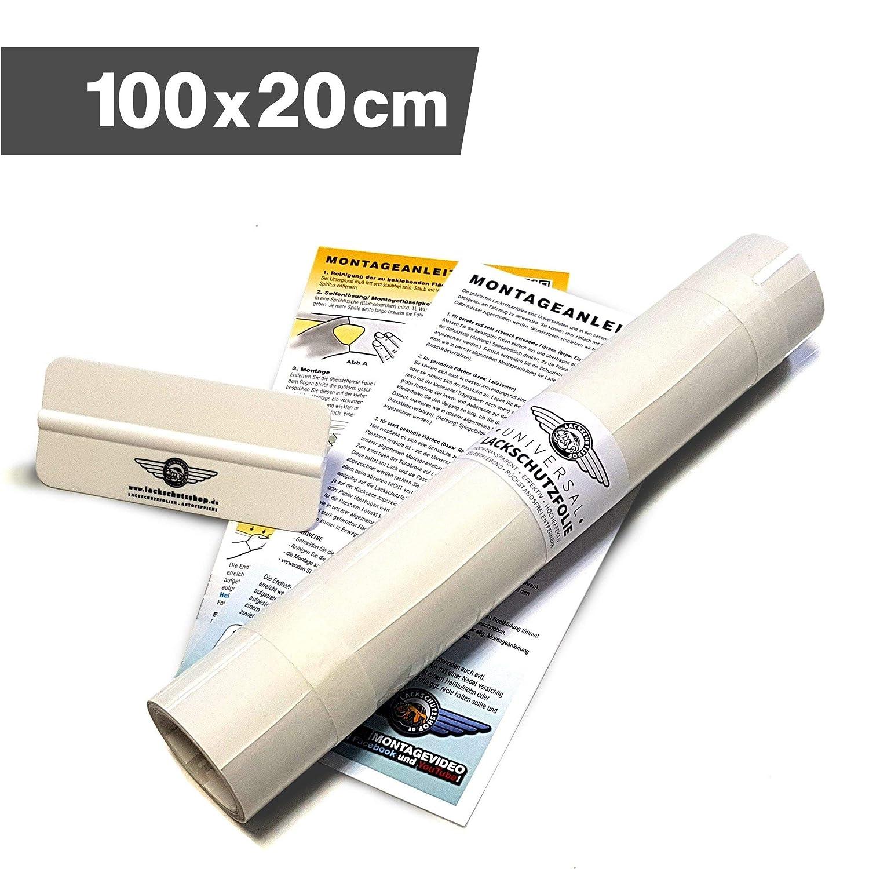 Lackschutzfolie Schutzfolie Klebefolie transparent universal 300x1000mm selbstklebend 150/µm Lackschutzshop
