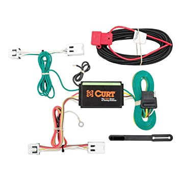 Curt 56227 Vehicle Side Custom 4 Pin Trailer Wiring Harness For Select Nissan Leaf