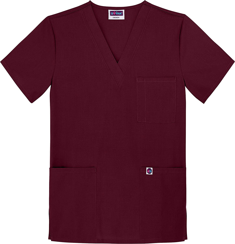 Sivvan Uniformi Mediche Camice Unisex Parte Superiore Infermiera Ospedale da Lavoro