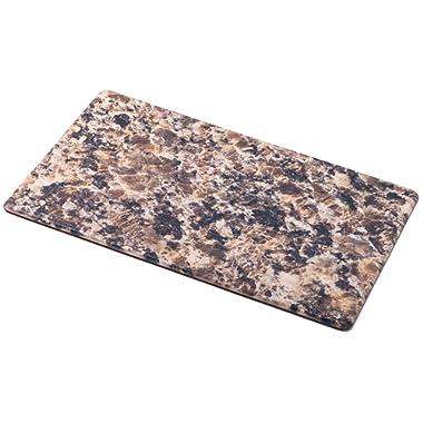 HemingWeigh Premium Anti-Fatigue Designer Comfort Kitchen Floor Mat, 30 x 17, 1/2 thick ergo-foam core for health and wellbeing (Granite)