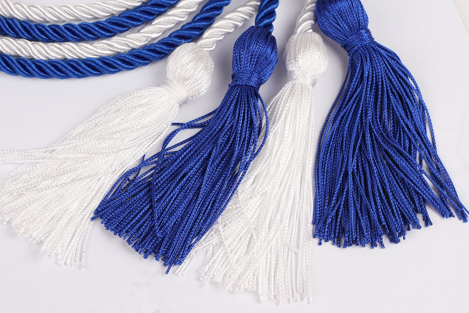 Black and White,68 Long Double Graduation Honor Cords