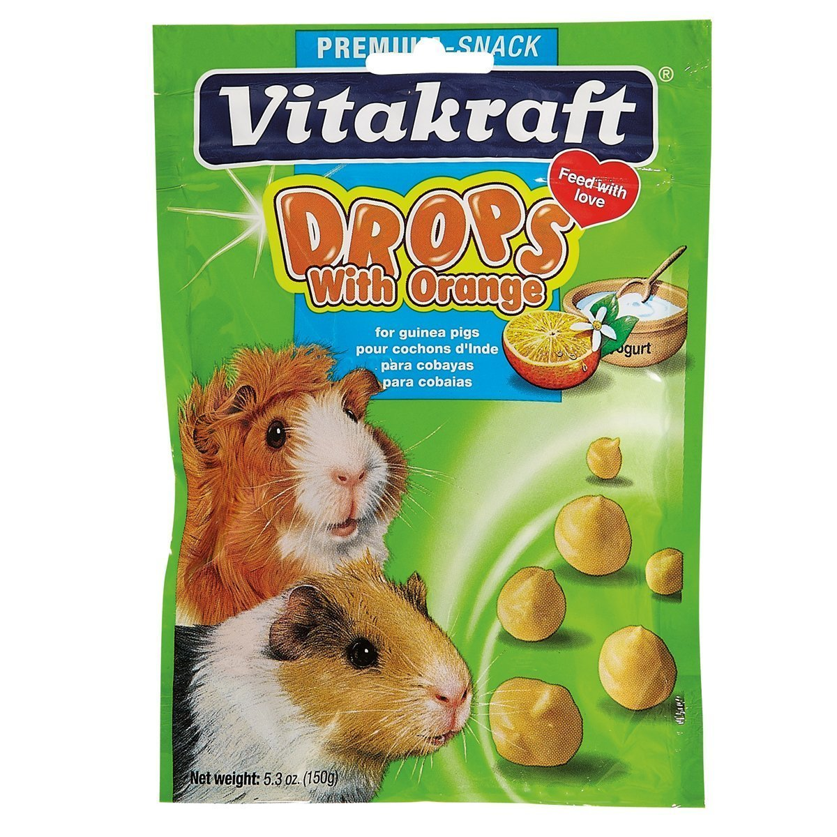 Vitakraft Guinea Pig Drops and 5.3-Ounce Pouch (2 Pack)