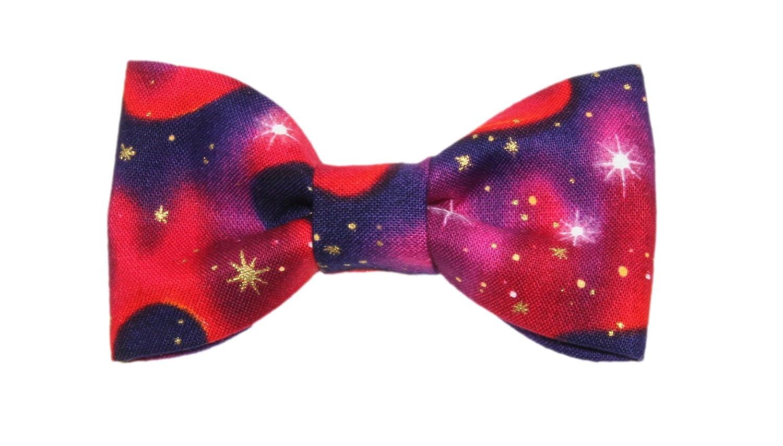 Toddler Boy 4T 5T Star Gazer Galaxy Clip On Cotton Bow Tie Bowtie