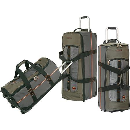 1f8ebe18e59 Timberland Luggage Jay Peak 3 Piece Duffle Set, Burnt Olive, One Size:  Amazon.co.uk: Luggage
