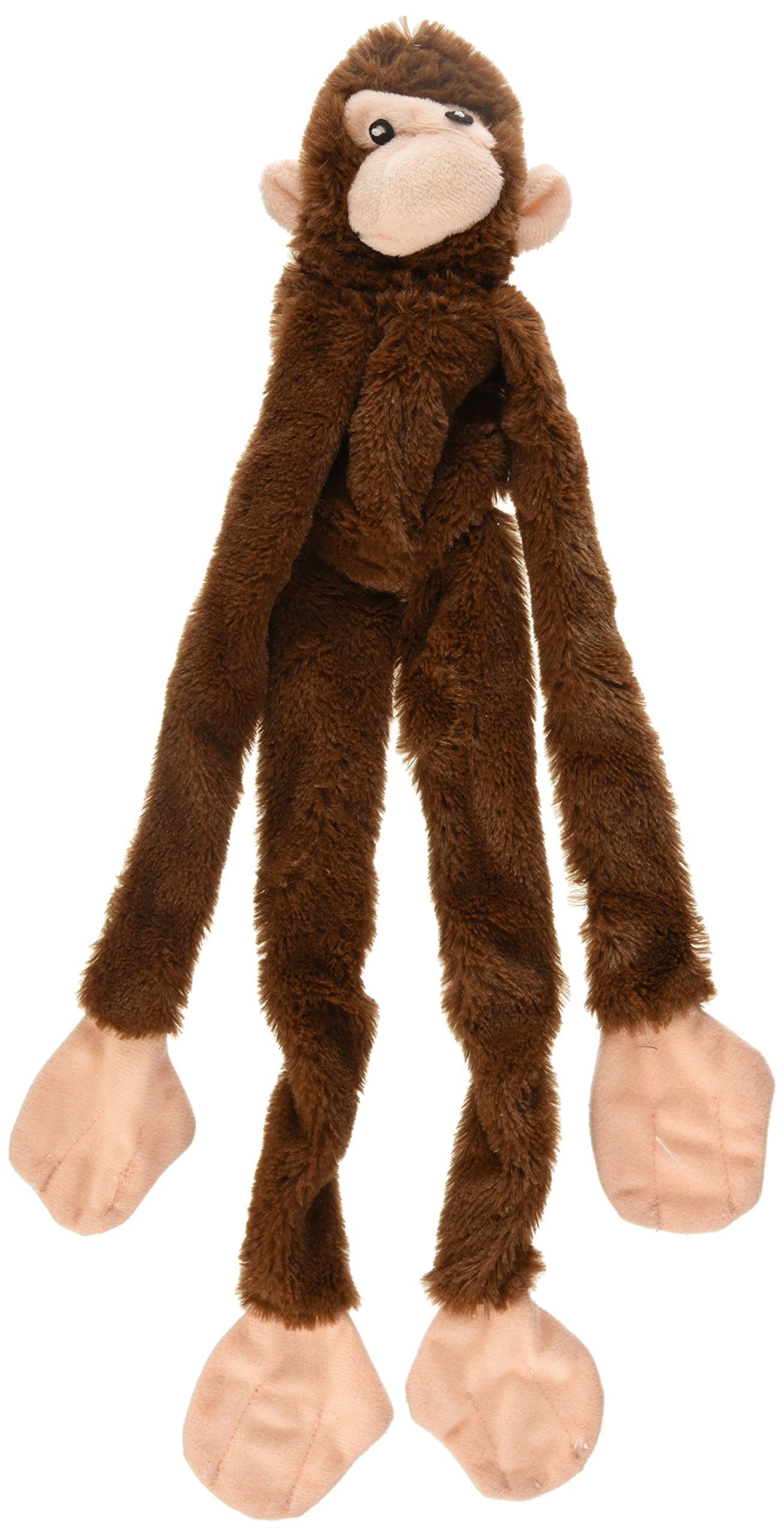 Ethical Plush Skinneeez Monkey 16-Inch Stuffingless Dog Toy - Assorted Colors