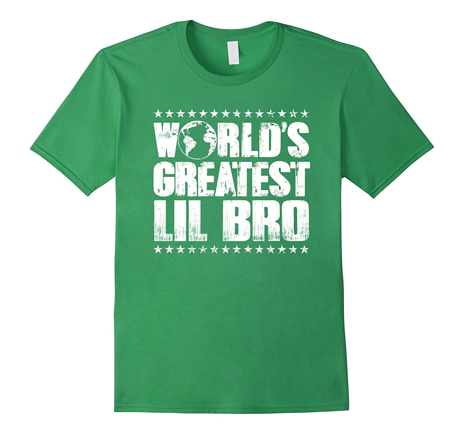 World's Greatest Lil Bro T Shirt - Best Little Brother Ever-Art