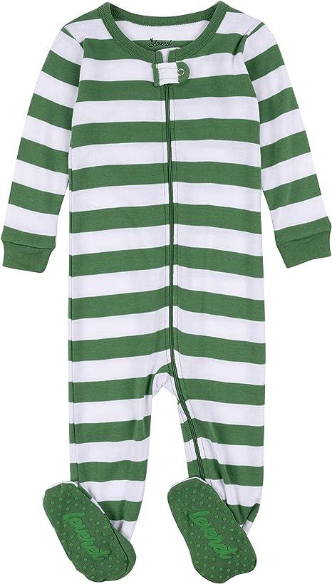 Size 6M-14Y Leveret Boys Red /& Grey Striped Pajama Set 100/% Cotton