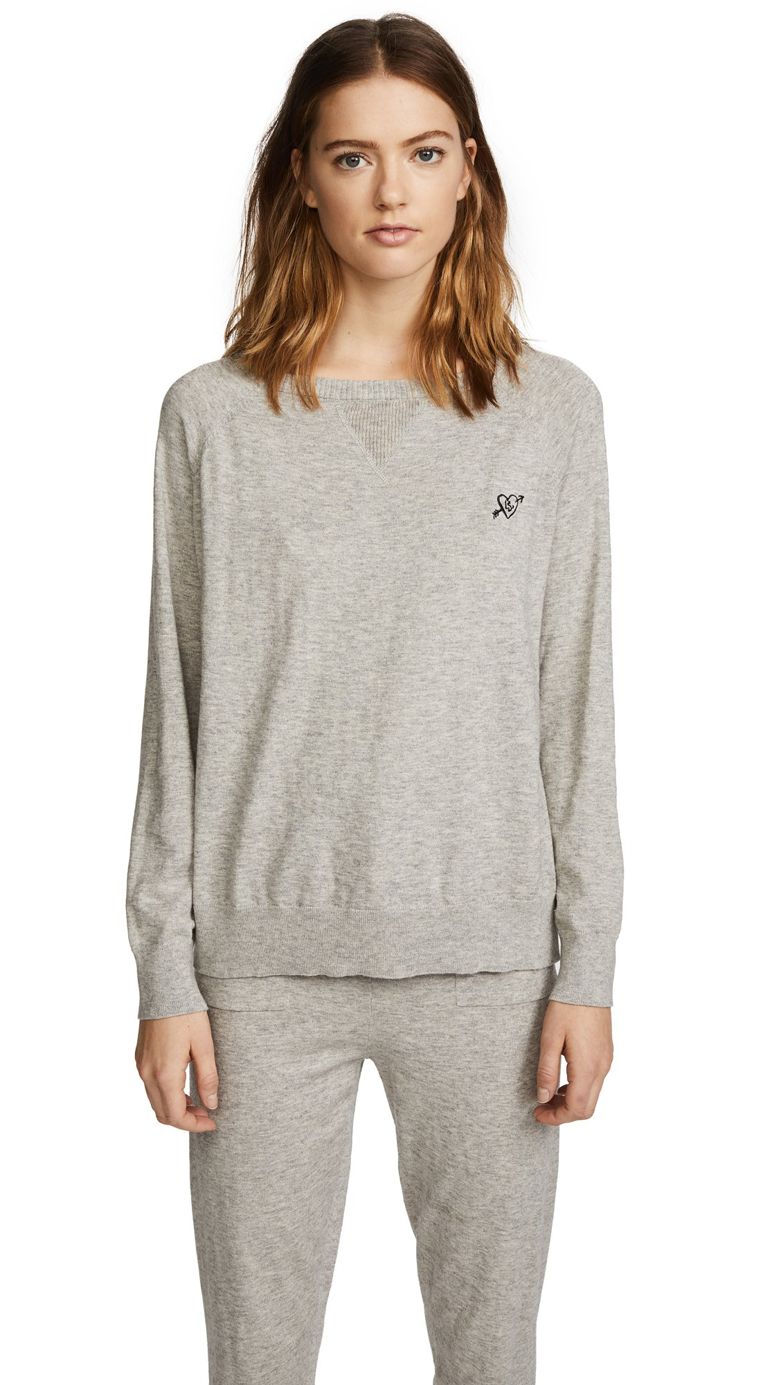 LOVE Stories Women's Jerry Sweater, Grey, Small