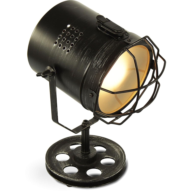 MOJO Industrial Chic Tischlampe Retro Vintage Deko Lampe Tischleuchte L45:  Amazon.de: Beleuchtung