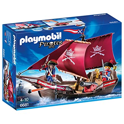 Playmobil 6681 Floating Pirates ' Patrol Boat: Toys & Games