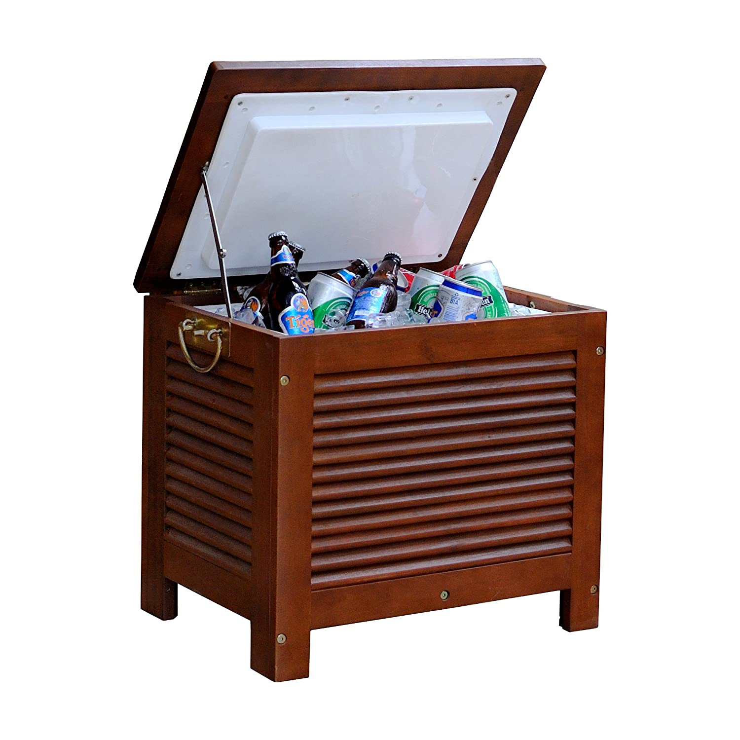 Amazon.com : Merry Garden MPG PC01 Wooden Patio Cooler : Wood Ice Chest :  Garden U0026 Outdoor