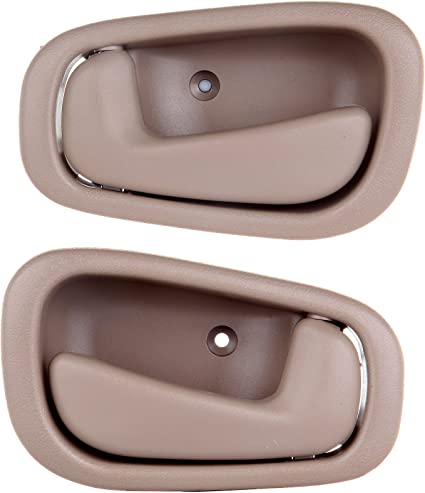 4Pcs BOPART Inside Interior Door Handle for 1998 1999 2000 2001 2002 Toyota Corolla Chevrolet Prizm Front Rear Driver /& Passenger Side Replacement Manaul Lock Beige//Tan