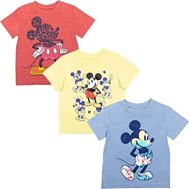 Disney Mickey Mouse Boys 3 Pack T-Shirts