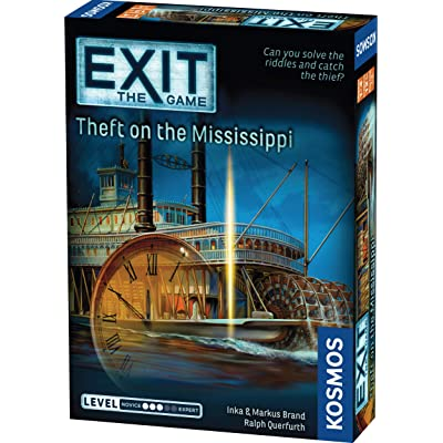 Thames & Kosmos EXIT: Theft on The Mississippi | Escape Room Game in a Box| EXIT: The Game – A Kosmos Game | Family – Friendly, Card-Based at-Home Escape Room Experience for 1 to 4 Players, Ages 12+: Toys & Games
