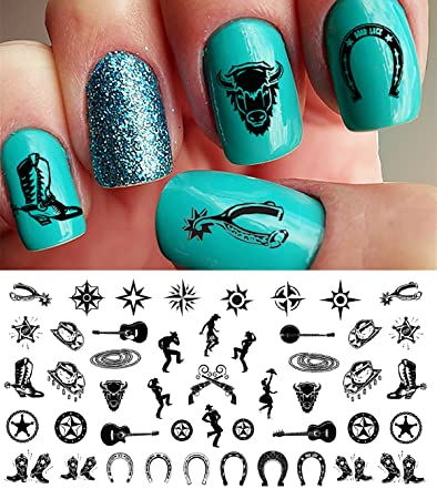 Amazon.com: Country & Western Nail Art Waterslide Decals Set#1 ...