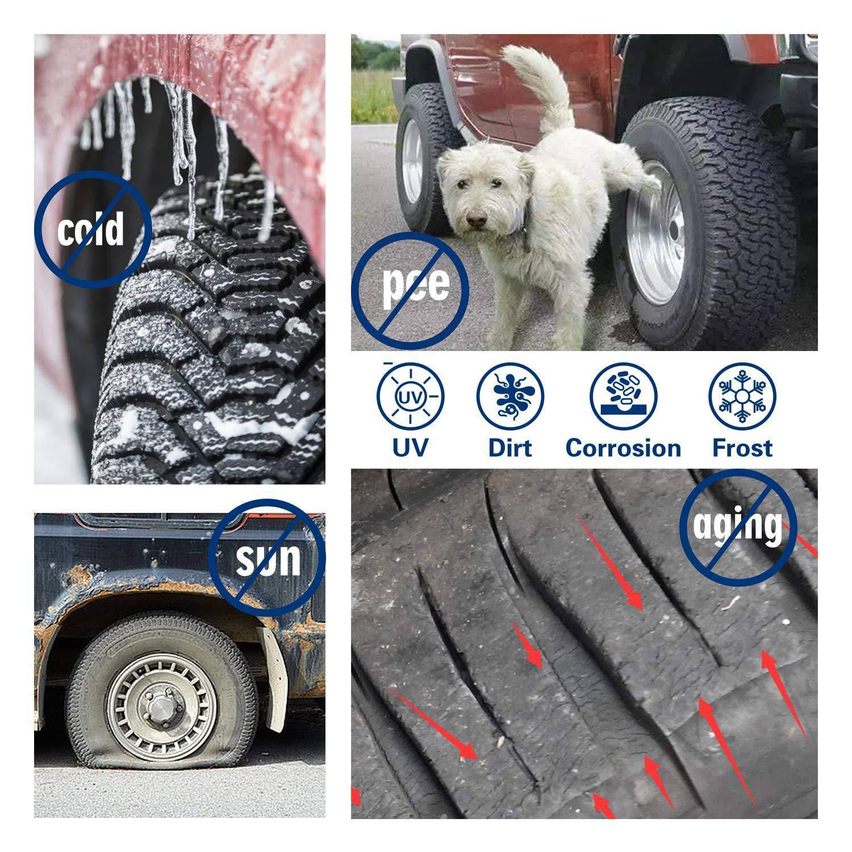 TOOGOO Auto Reifen Abdeckungs wasserdichte Uv Sonnenschutz Rv Anh?nger Reifen Schutz Abdeckung Verwendbar F/ür 27 Zoll-29 Zoll LKW Wohnmobil Reifen Durchmesser