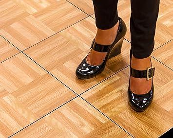 Amazoncom SnapFloors XOAKFLOOR Modular Dance Floor Kit X - Snap lock dance floor for sale