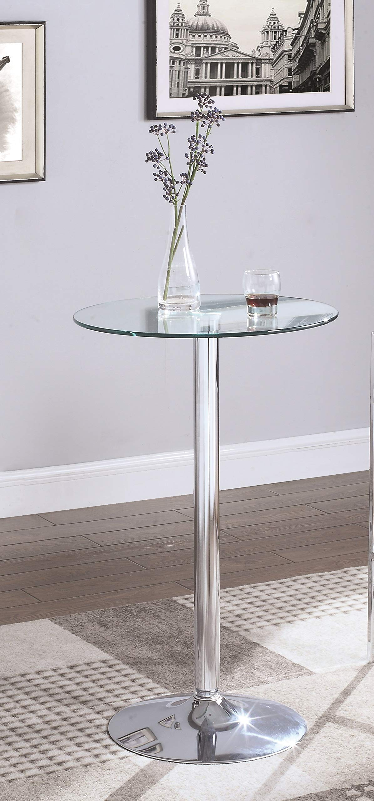 Coaster Bar Table, Chrome by Coaster Home Furnishings