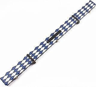 Weichster Luxe 3/4Motif patch de diamant rond Coque rigide Queue de billard avec ceinture