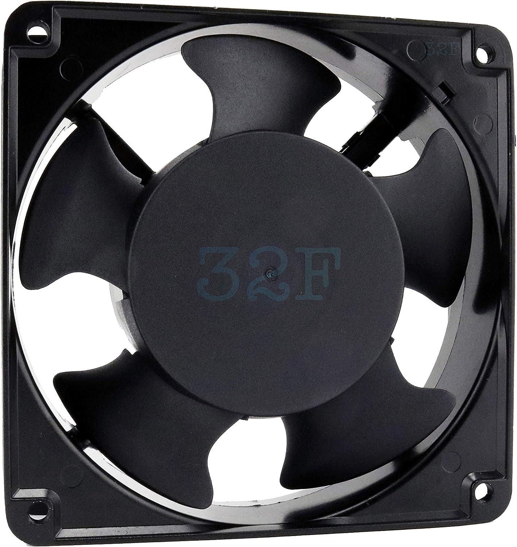 32F Ventilador 120 mm 120 x 120 x 38 2600 RPM 220 V 230 V 240 V 0,16 A AC Air Fan 12 cm 120 mm axial refrigeración 120 x 120 x 38: Amazon.es: Electrónica