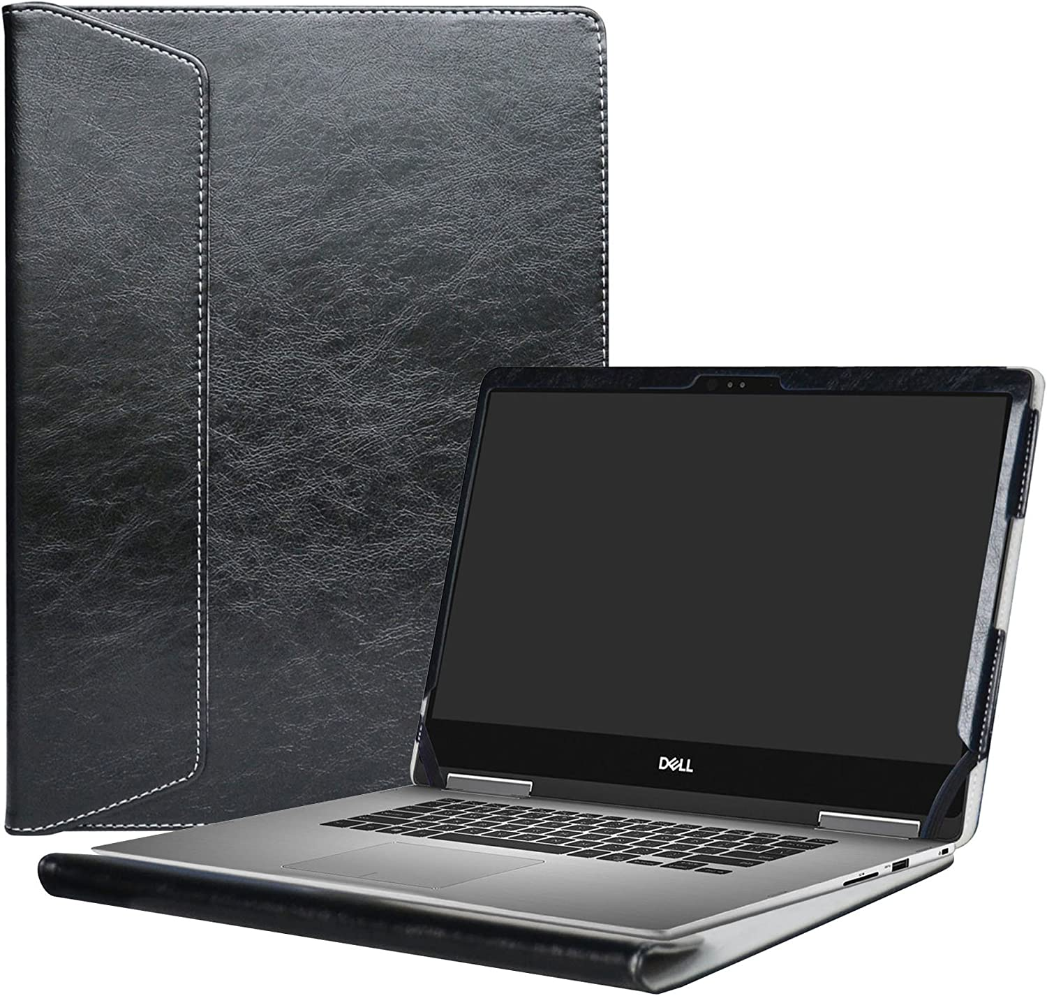 """Alapmk Protective Case Cover for 13.3"""" Dell Inspiron 13 2-in-1 7373 i7373 / Inspiron 13 7370 i7370 Laptop(Warning:only fit Model 7373 7370),Black"""