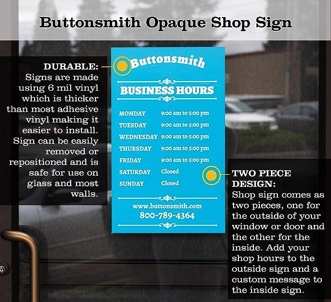 Amazon.com: Buttonsmith - Juego de 2 carteles ...