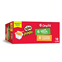 Deals on 18-Ct Pringles, Potato Crisps Chips, Variety Pack, 12.9oz