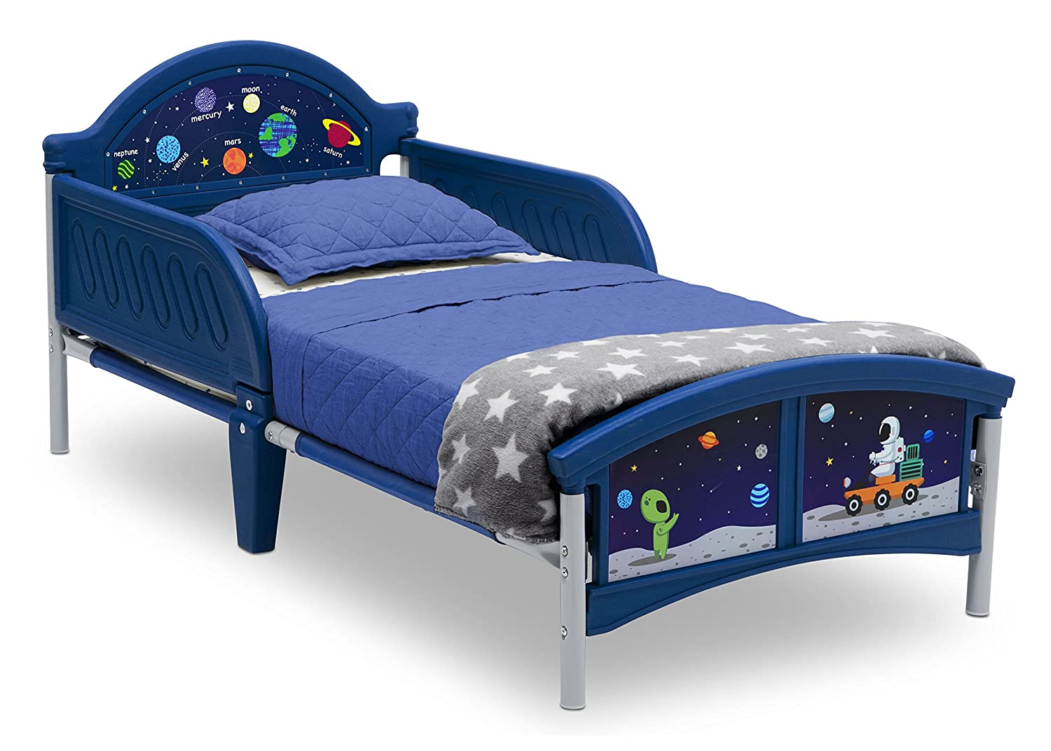 Rainbow Dreams Toddler Bed with Bedguard Delta Children BB81403RD