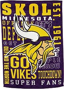 Team Sports America Minnesota Vikings Fan Rules Garden Flag - 13 x 18 Inches