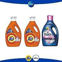 Ace detergente líquido 2 botellas 3 litros c/u + downy suavizante floral 2.8 l