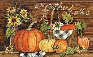 Studio M Thanksgiving Floor Door Mat MatMate 18x30 Susan Winget - 11958 Harvest Gathering