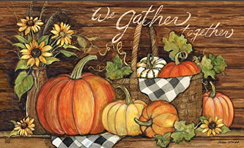 Studio M Thanksgiving Floor Door Mat MatMate 18×30 Susan Winget – 11958 Harvest Gathering