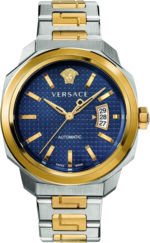 Versace Reloj analógico para Hombre de Automático con Correa en Acero Inoxidable VAG030016