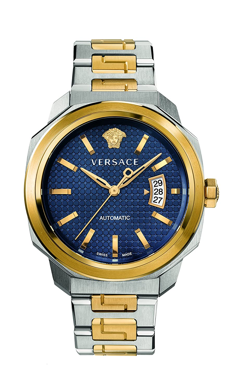 Versace Men s Dylos Automatic Stainless Steel Casual Watch, Color Two Tone Model VAG030016