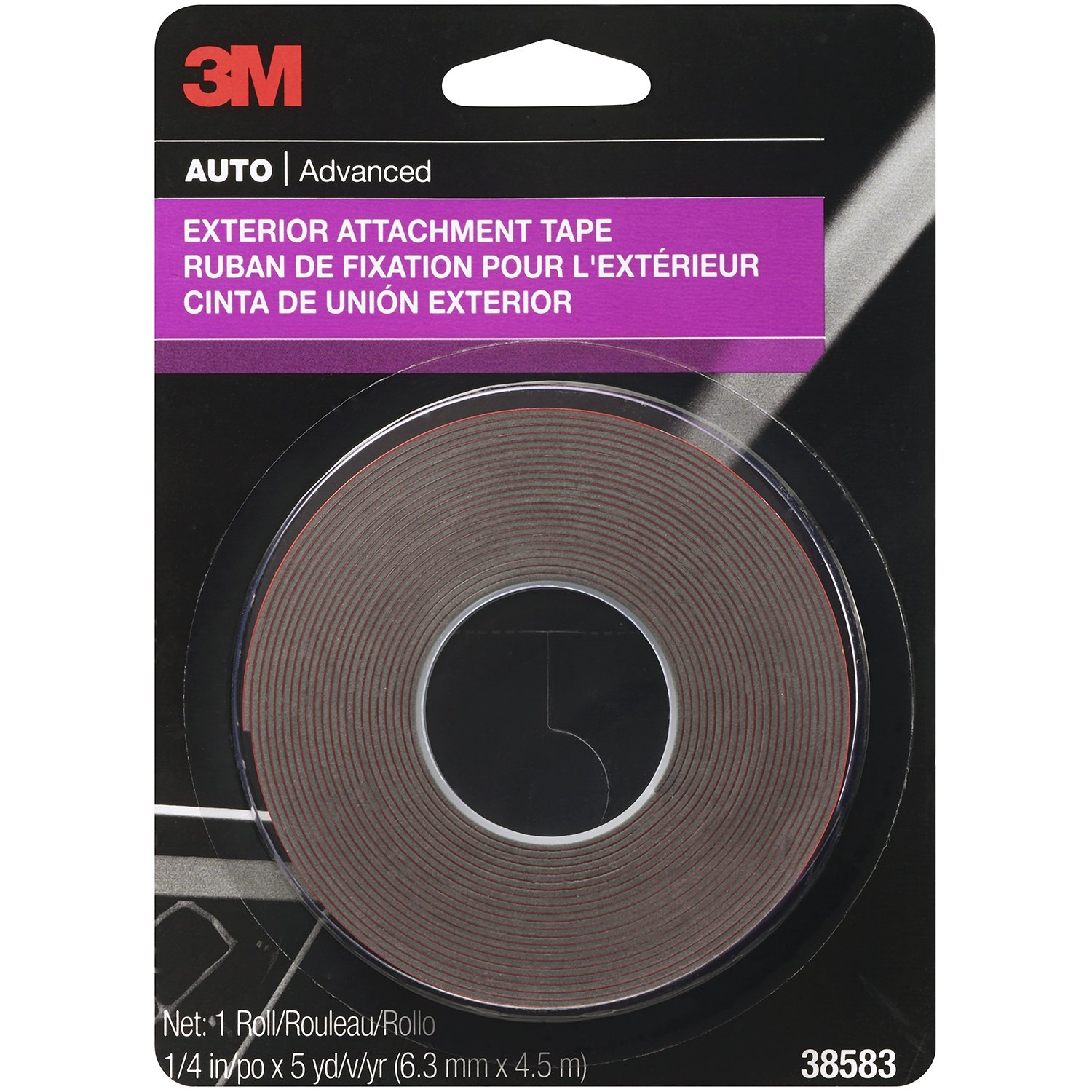 3M 38583 1/4'' x 15' Exterior Attachment Tape (24 Pack) by 3M