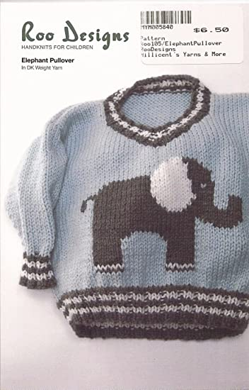Amazon Roo Designs Childs Elephant Pullover Knitting Pattern