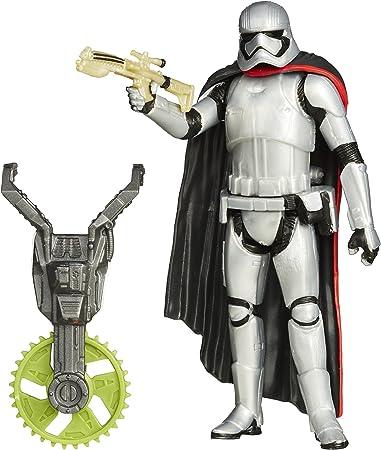 Recrea aventuras y escenas del universo Star Wars,Capitán Phasma de Buzz sierra combina arma con arm