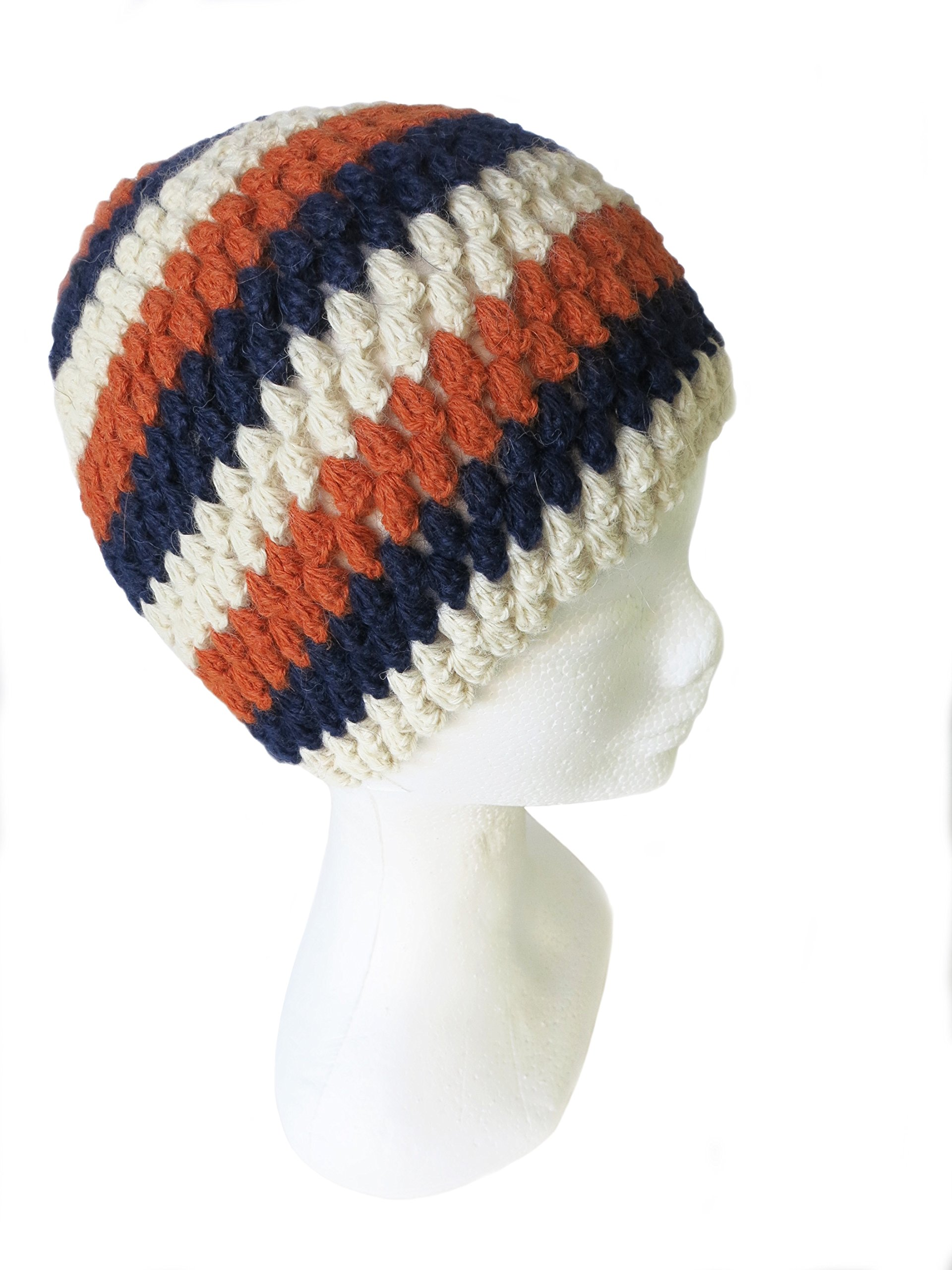 CUSTOM MADE ORDER IN ANY COLOR - Crocheted by Hand PURE ALPACA Beanie (Brittany) by BARBERY Alpaca Accessories