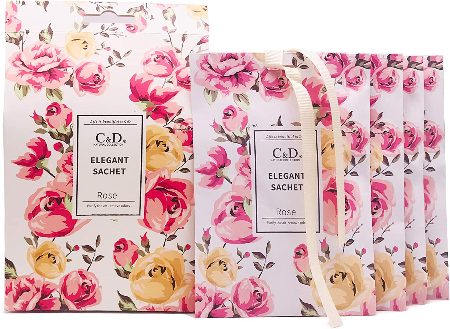 CD Rose Scented Limited time Popular brand in the world for free shipping Sachets Closets-4 and Drawers Packs