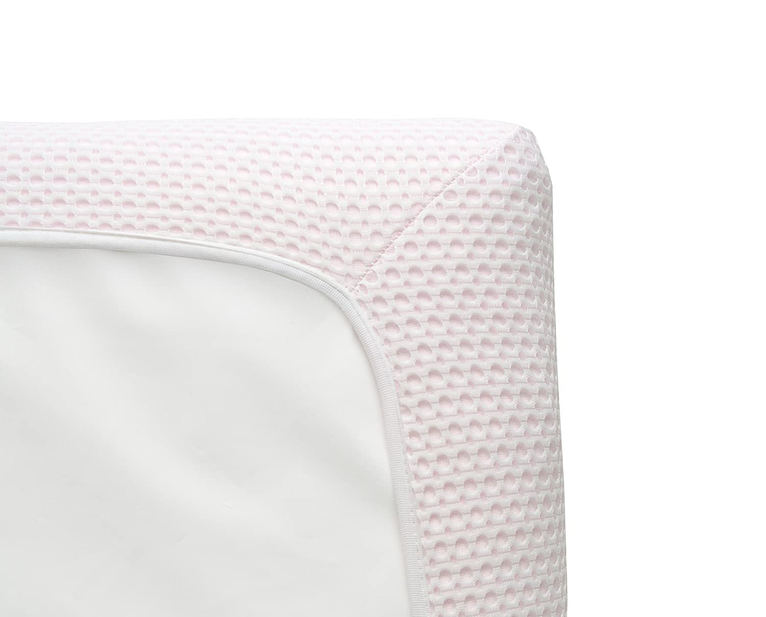 Lullaby Earth Breeze Breathable Crib PAD - Pink Naturepedic BRZ PINK
