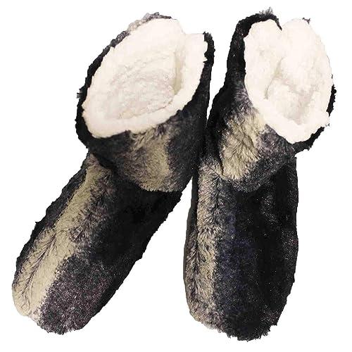 FERETI Botas De Casa Hombre Zapatillas Peluche Botines Pantuflas Suela Goma Altas Anti Slip: Amazon.es: Zapatos y complementos