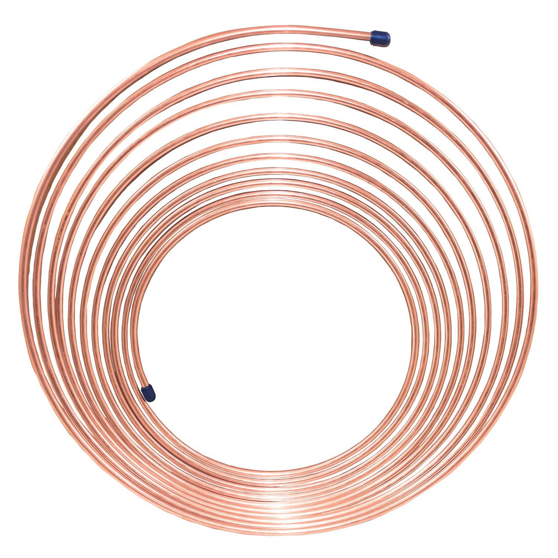 Nickel/Copper Brake Line Tubing Coil, 3/16'' x 25'