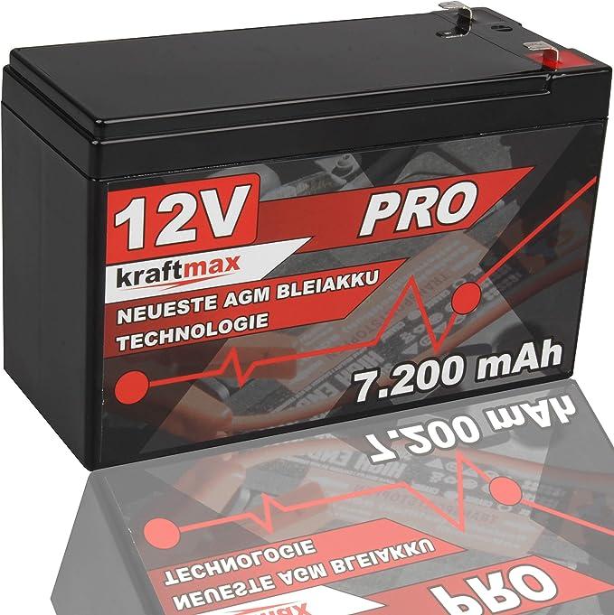 Kraftmax Industrial Pro Bleiakku 12v 7 2ah Agm Hochleistungs