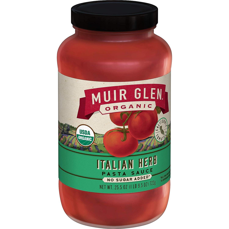 Muir Glen, Organic Italian Herb Pasta Sauce, 25.5 oz (Pack of 12)